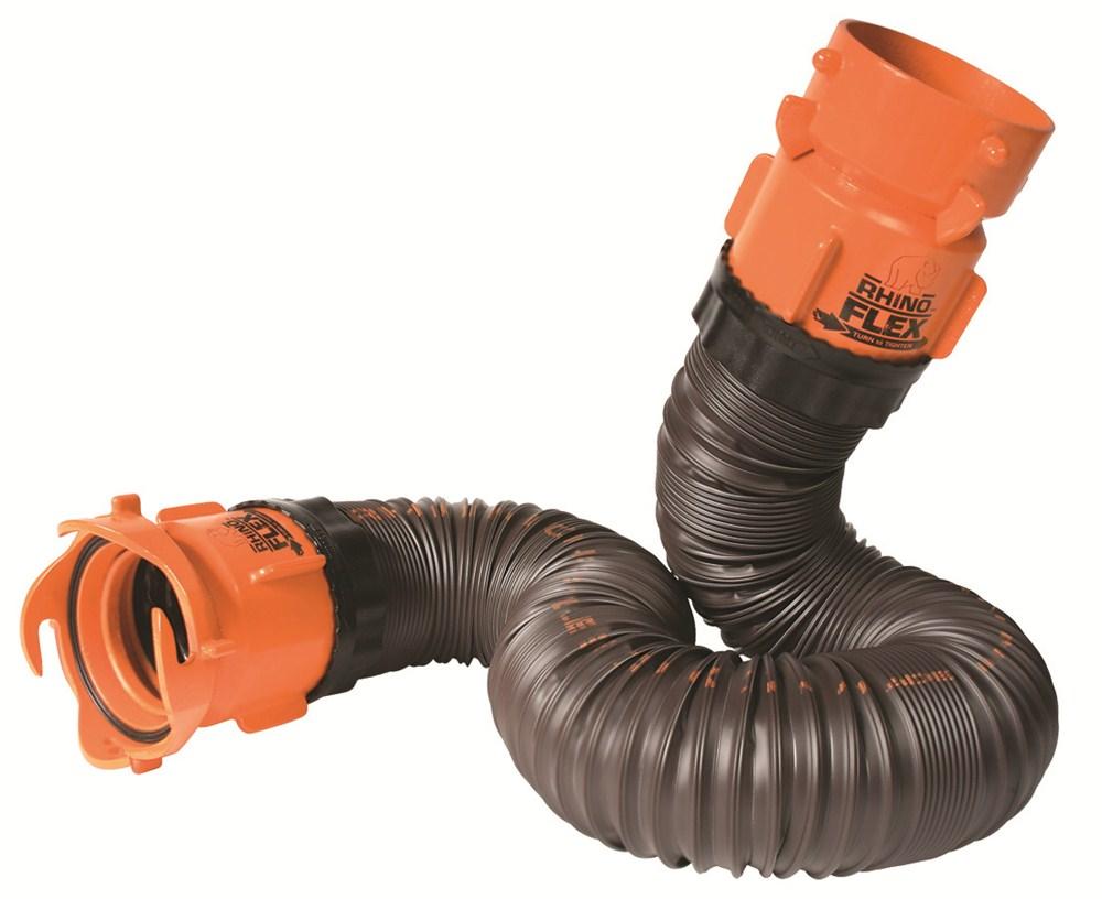 Rhinoflex rv sewer hose extension w swivel lug and