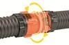 RhinoFLEX RV Sewer Hose Swivel Coupler Fitting Coupler Fitting CAM39821