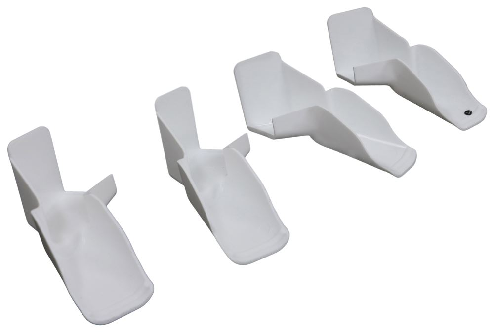 Camco RV Rain Gutter Spouts w/ Extensions - Slide On - Qty 4
