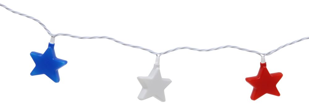 Camco Party Lights - Stars - 8' Long Light Strand CAM42656