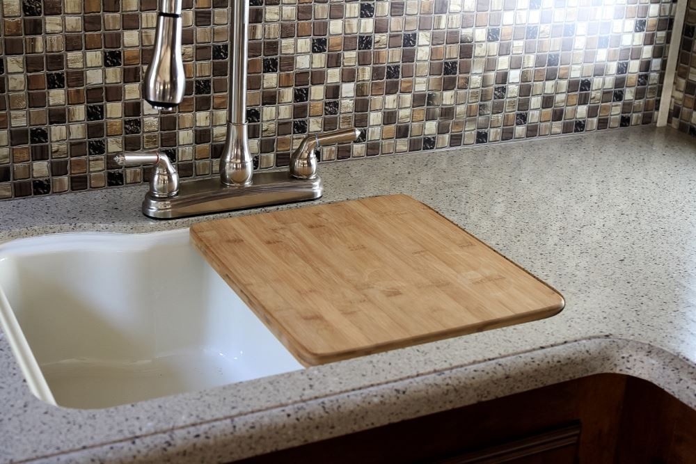 Camco Rv Wooden Sink Cover 15 Quot Long X 13 Quot Wide Bamboo