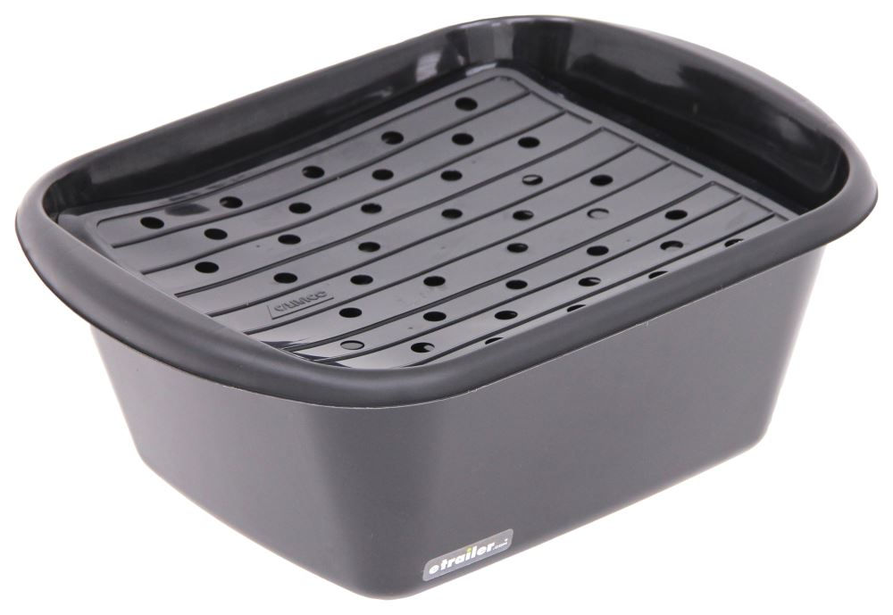 Camco Sink Kit With Dish Drainer Dish Pan And Sink Mat
