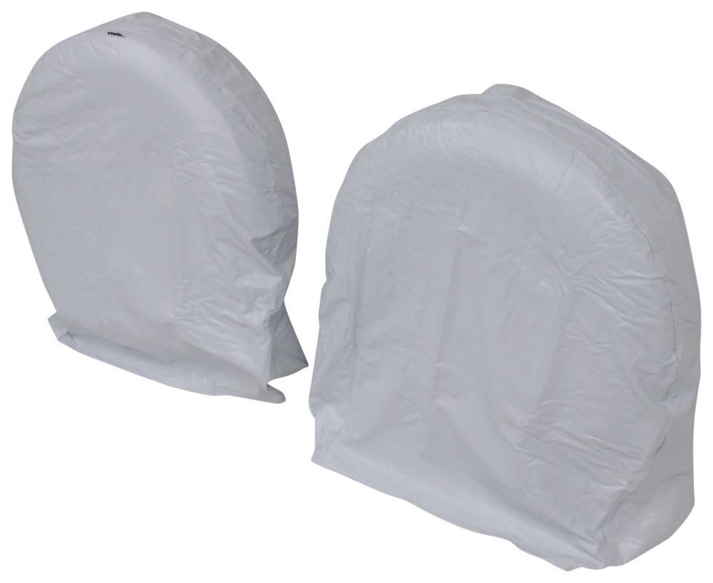 "Camco Vinyl Tire Covers - 36""-39"" - Qty 2 - Arctic White White CAM45325"