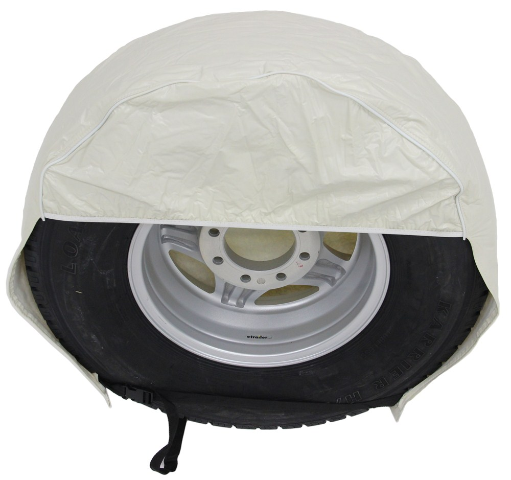 Rv Wheel Covers : Camco vinyl tire covers quot qty colonial white