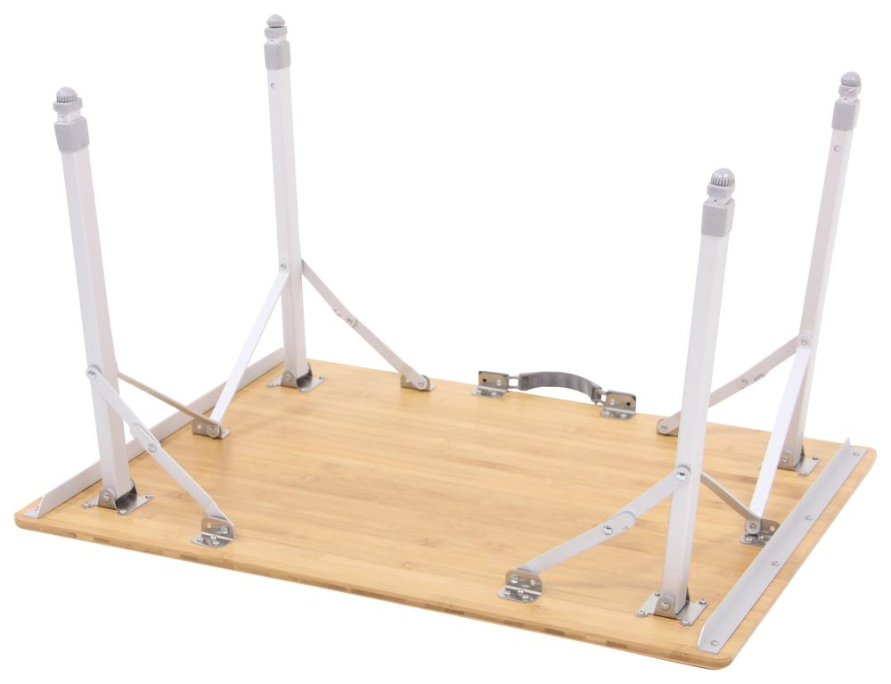Camco Bamboo Folding Table With Telescoping Legs 18 Quot To