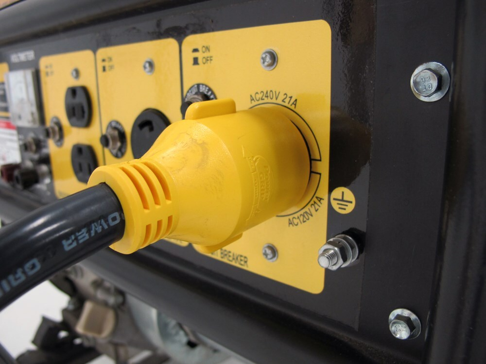Power Grip Generator Adapter For Rv Power Cord 125v 30