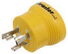Power Grip Generator Plug Adapter for RV Power Cord - 30 Amps - 3 Prong Twist Lock