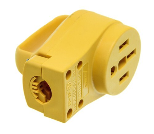 Power Grip Replacement Rv Power Cord Adapter Receptacle W