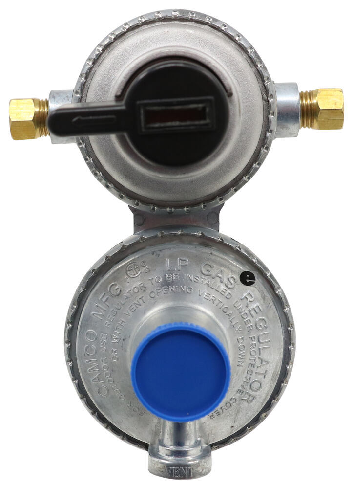 Camco Automatic Changeover 2-Stage Propane Regulator for