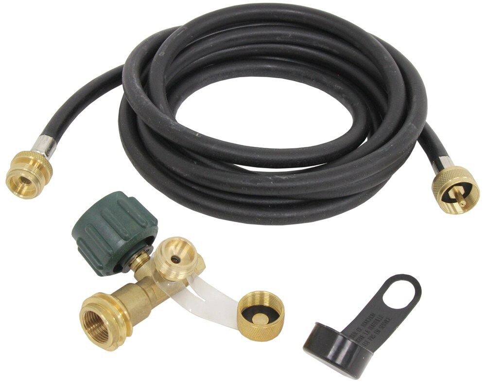 Camco degree brass propane tee w ports and long