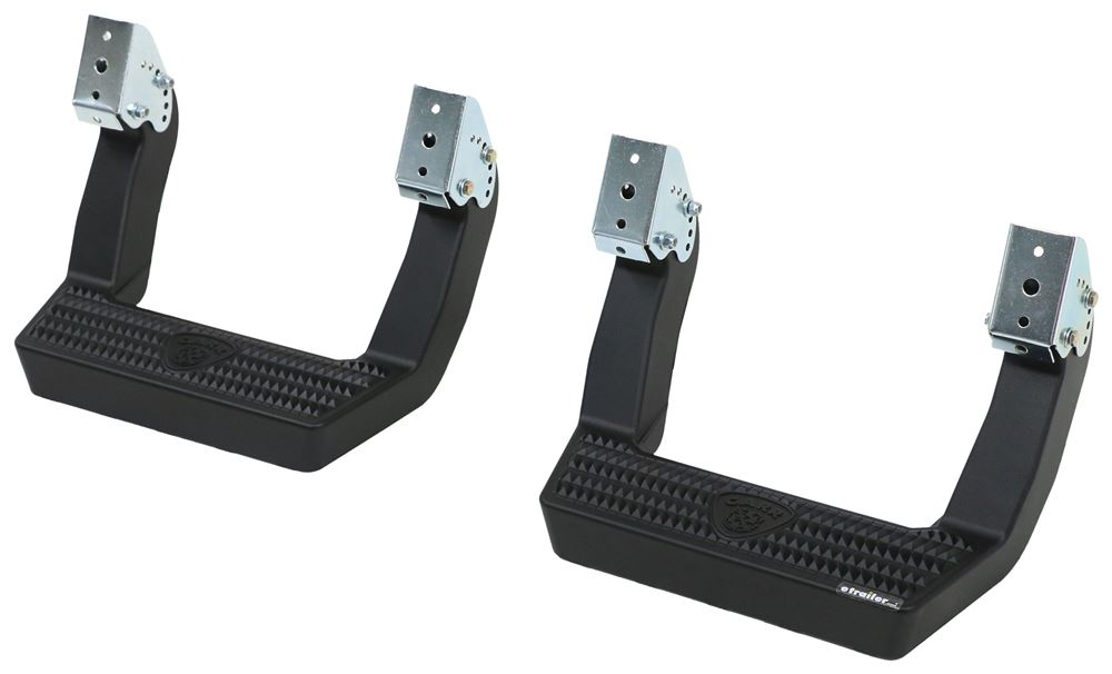 "Carr LD Custom Fit Side Steps - Black Powder Coated Aluminum - 14"" Step - 1 Pair 4 Inch Width CARR114031"
