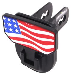 "Carr Hitch Mounted Step for 2"" Trailer Hitches - Black Powder Coat Aluminum - American Flag"