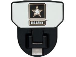 Carr Custom-Fit Tow-Hook-Mounted Step - Black Powder Coat Aluminum - US Army Logo - Qty 1