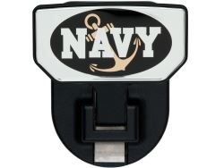 Carr Custom-Fit Tow-Hook-Mounted Step - Black Powder Coat Aluminum - Navy Graphic - Qty 1