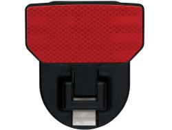 Carr Custom-Fit Tow-Hook-Mounted Step - Black Powder Coat Aluminum - Red Reflector - Qty 1