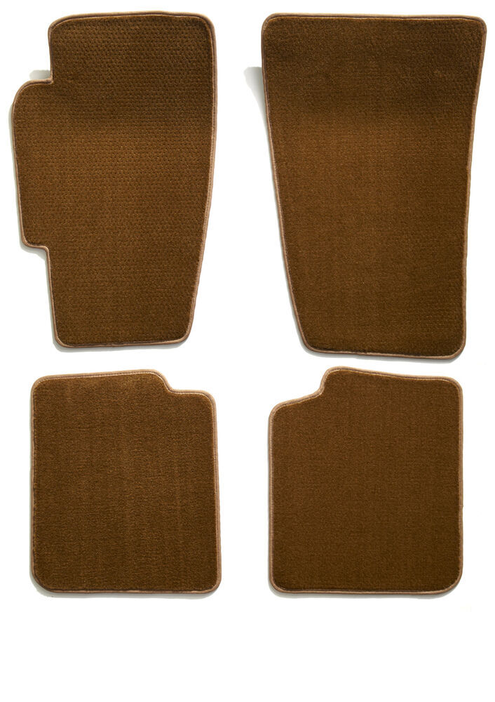 Covercraft Premier Custom Auto Floor Mats - Carpeted - Front and Rear - Caramel Carpet CC76172422