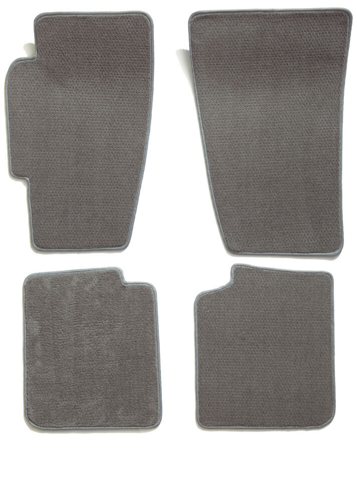 Covercraft Premier Custom Auto Floor Mats - Carpeted - Front and Rear - Gray All Seats CC76172447