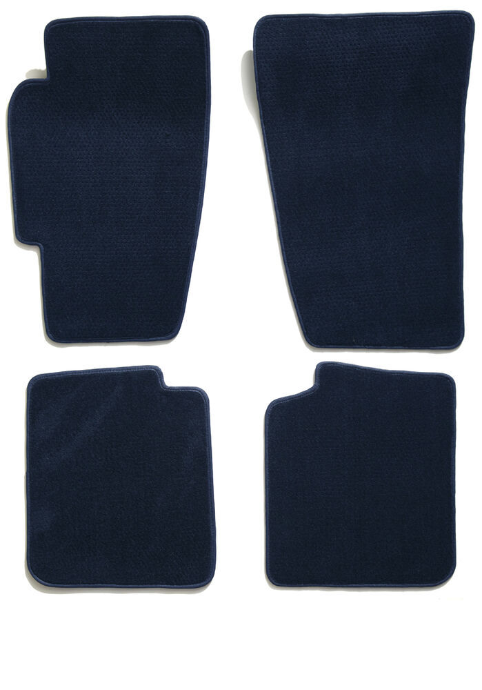 Covercraft Premier Custom Auto Floor Mats - Carpeted - Front and Rear - Navy Blue All Seats CC76157862
