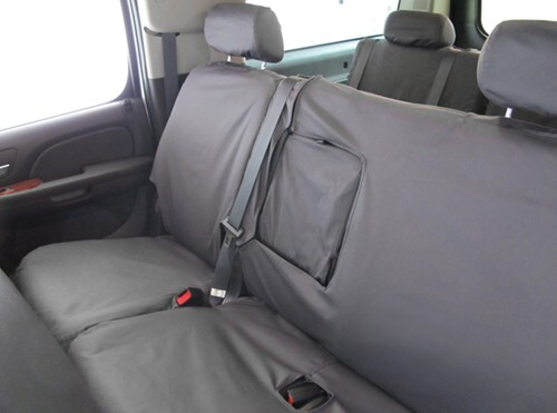 Covercraft SS3381PCCH Custom-Fit Front Bench SeatSaver Seat Covers Charcoal Black Polycotton Fabric