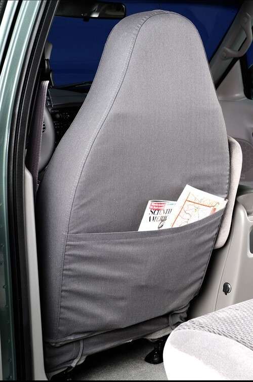 Covercraft SS3359PCGY Custom-Fit Front Bench SeatSaver Seat Covers Polycotton Fabric Grey