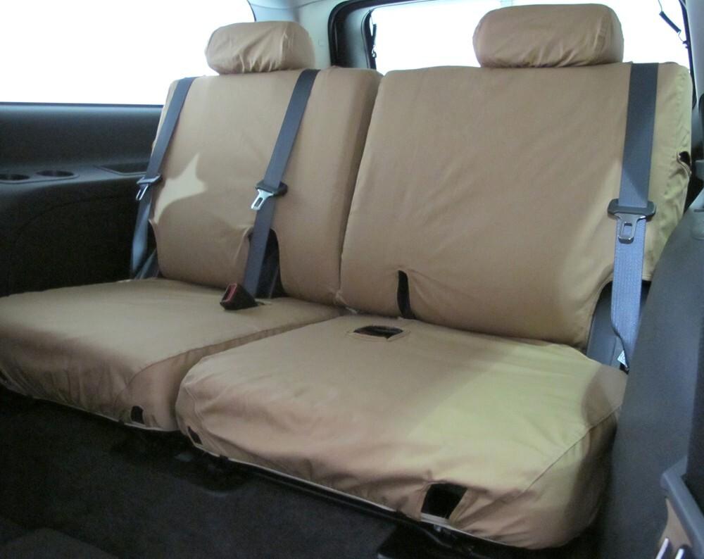 2016 honda pilot covercraft seatsaver custom seat covers third row tan. Black Bedroom Furniture Sets. Home Design Ideas