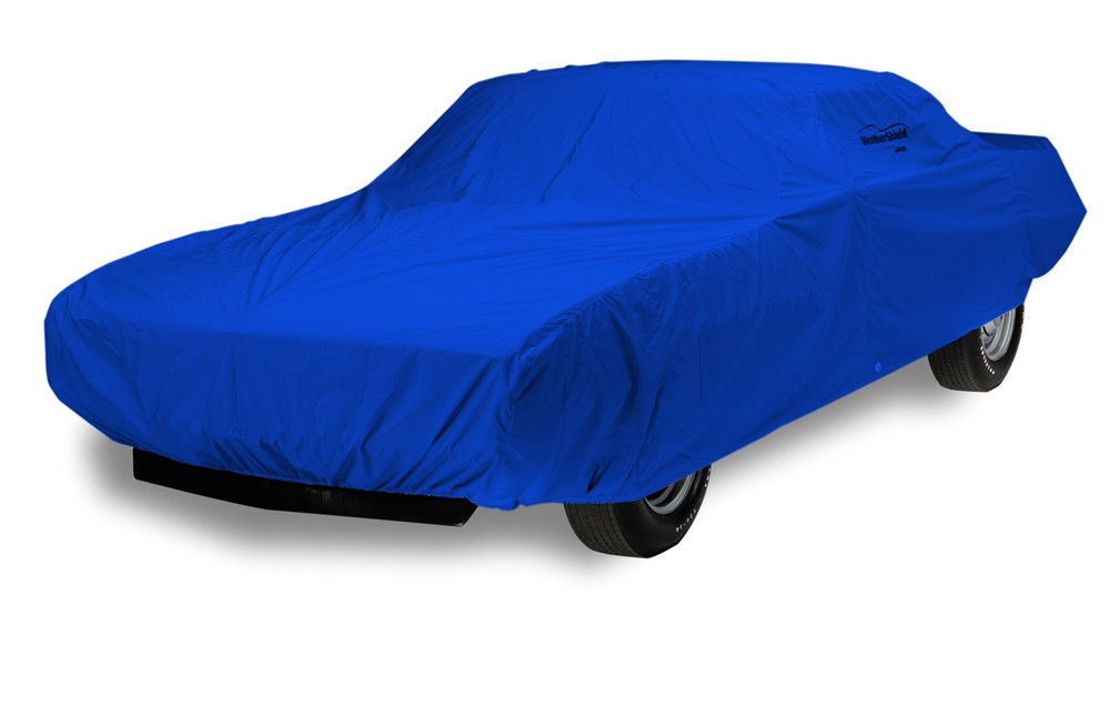 Covercraft WeatherShield HP Custom-Fit Outdoor Vehicle Cover - Bright Blue Minimal Ding Protection C17026PA