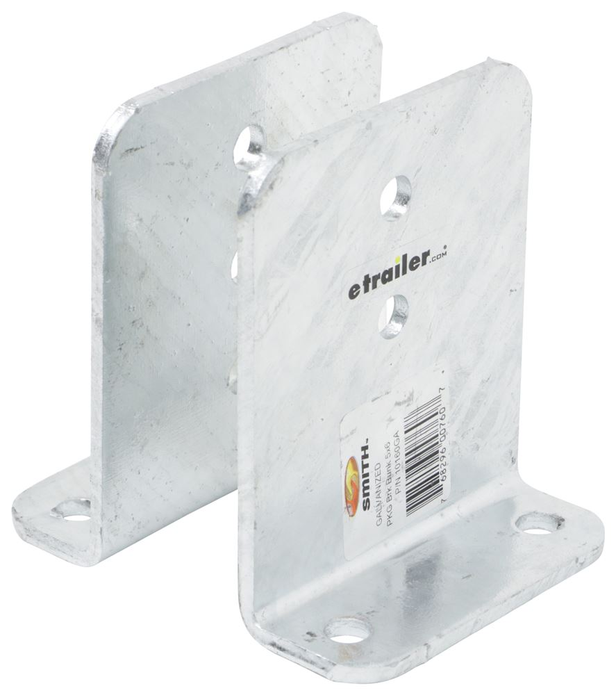 "CE Smith Heavy Duty, Vertical Bunk Brackets - 90 Degree - Galvanized Steel - 6"" Tall - Qty 2 Brackets CE10160GA-2"