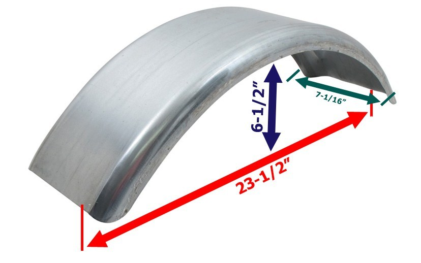 Plastic Trailer Fenders Tandem : Ce smith single axle trailer fender pre galvanized steel