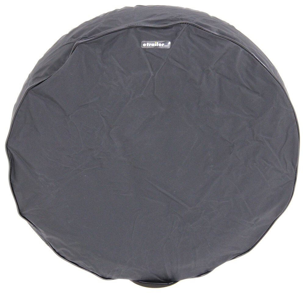 """CE Smith Spare Tire Cover - up to 21"""" Diameter x 6-1/2"""" Wide Trailer Tires - Black 21 Inch Tires CE27410"""