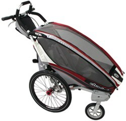 Thule CX Jogging and Walking Stroller - 1 Child - Burgundy/Red/Silver - 6 Months and Older