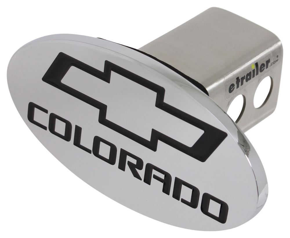 "Chevrolet Colorado Logo Trailer Hitch Receiver Cover - 2"" Hitches - Black and Chrome Chevrolet CHAAHC-12"