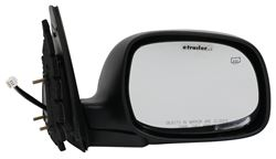 CIPA Replacement Side Mirror - Electric/Heat - Black/Chrome - Passenger Side