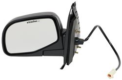 Replacement Side Mirror Electric Black Driver