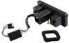 "Light-Up Rectangular Trailer Hitch Receiver Cover - Brake, Tail, Turn - 2"" Hitches Plain CR-007XL"