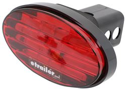 Oval LED Brake Light Trailer Hitch Receiver Cover