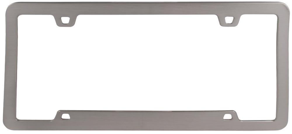 Brushed Nickel Cruiser Acessories Neo Sport License Plate Frame