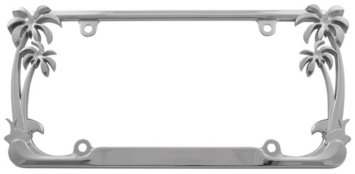 Palm Tree License Plate Frame - Chrome Cruiser License Plates and ...
