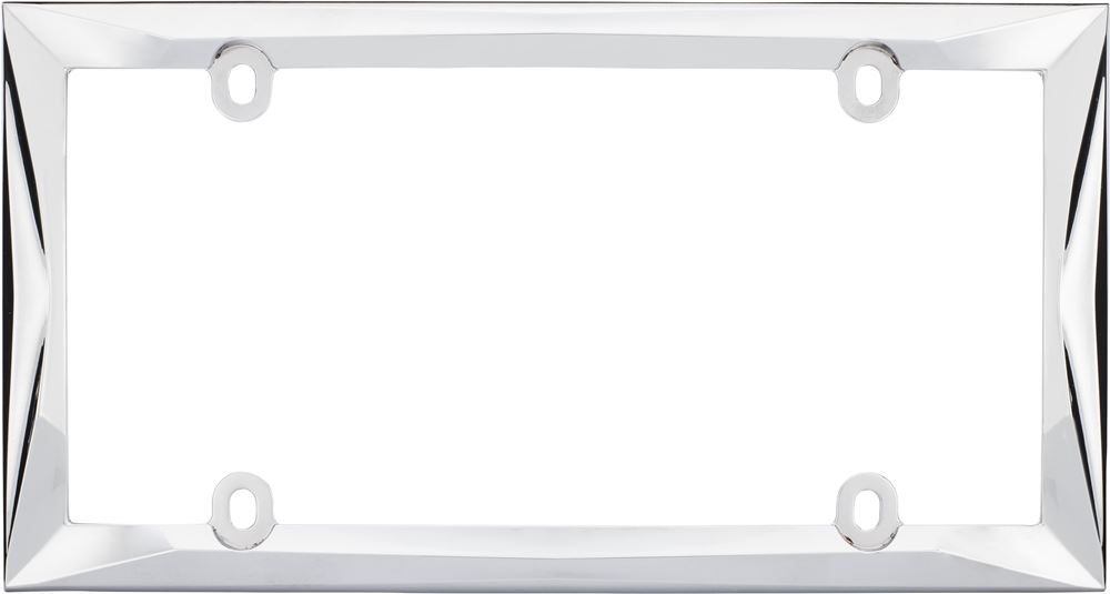 Cruiser License Plate Frame - Die Cast Zinc - Chrome Tag Frame CR58230