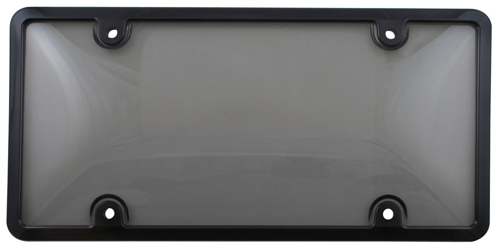 Tuf Combo License Plate Frame and Smoke-Tinted Shield - Black Plastic CR62052