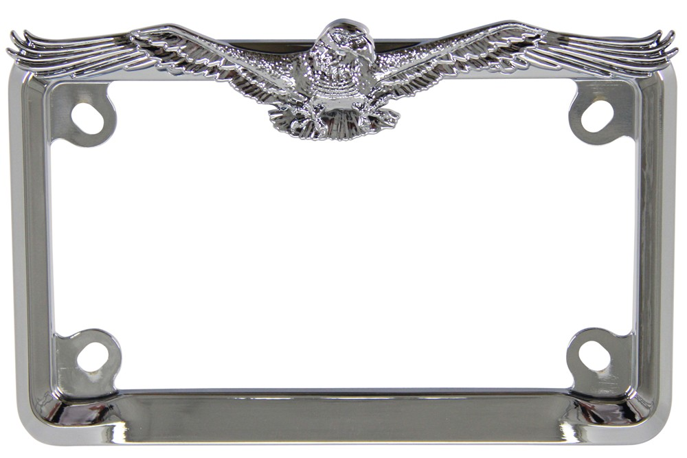 Eagle Motorcycle License Plate Frame Chrome Cruiser License Plates
