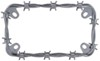 Barbed Wire Motorcycle License Plate Frame - Chrome Zinc CR77430