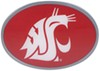 """Washington State Cougars 2"""" NCAA Trailer Hitch Receiver Cover - Oval Face - Zinc Collegiate U-Y CTHO71"""