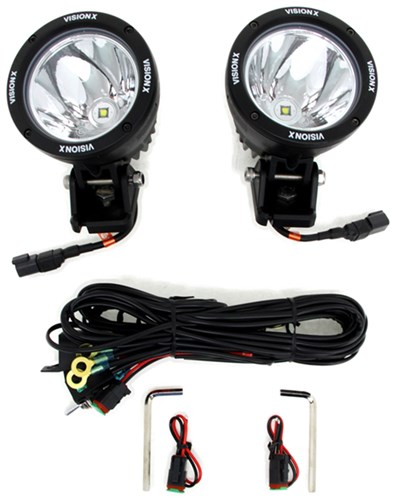 Vision X Light Cannons Off Road Light Kit   LED   50 Watts   Spot Beam    4.5