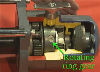 Seal Gen2 Free-Spooling Clutch with rotating ring gear