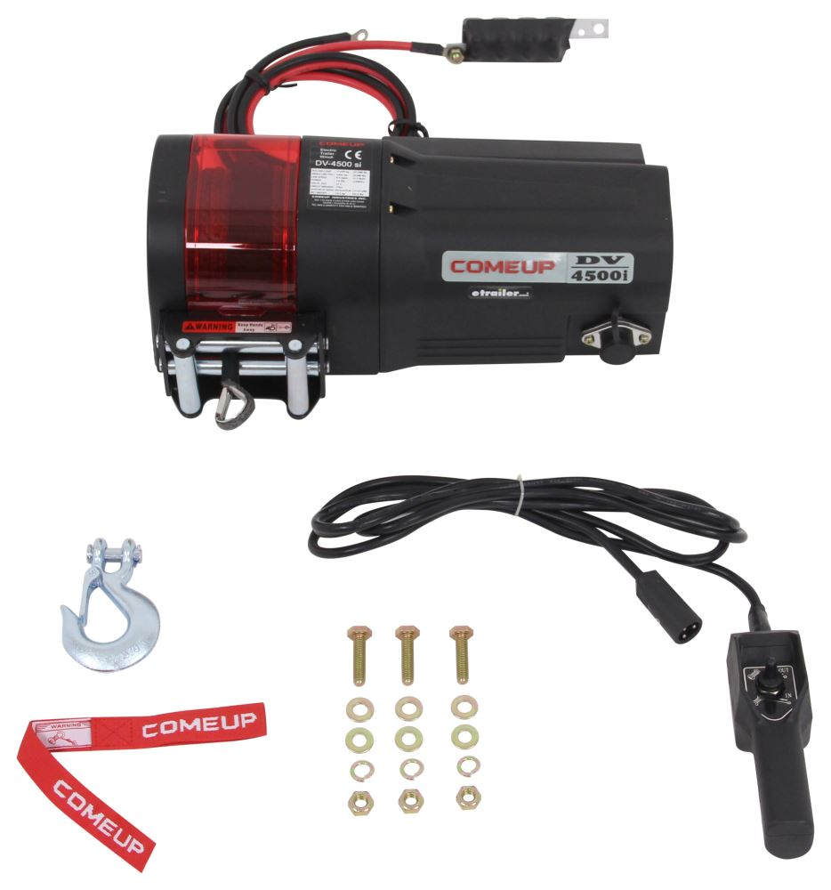 ComeUp DV-4500si Trailer Winch - Synthetic Rope - Roller Fairlead - 4,500 lbs Load Holding Brake CU644501