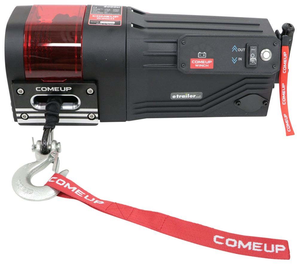 ComeUp DV-5000si Trailer Winch - Wireless Remote - Synthetic Rope - Roller Fairlead - 5,000 lbs 2.0 HP CU645010