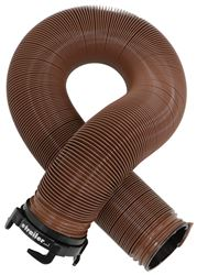 "EZ Flush RV Sewer Hose with 3"" Rotating Bayonet Fitting - Bronze - Vinyl - 10' Long"