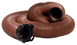 "EZ Flush RV Sewer Hose with 3"" Rotating Bayonet Fitting - Bronze - Vinyl - 20' Long"