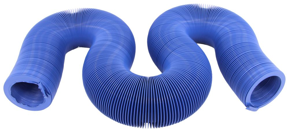 Quick Drain RV Sewer Hose - Blue - Vinyl - 20' Long Drain Hose D04-0048