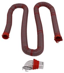 Viper RV Sewer Hose Kit w/ Swivel Fittings and 4-in-1 Clear Adapter - 15' Long Hose
